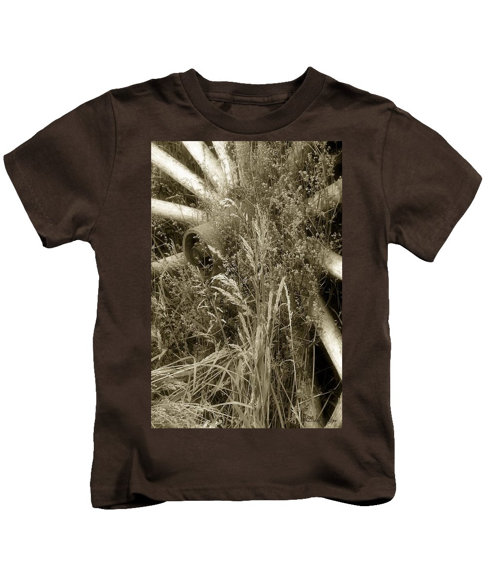 Abandoned Kids T-Shirt featuring the photograph Ornament For A Wild Garden by RC DeWinter