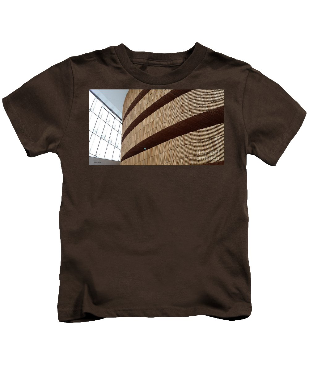 Oslo Kids T-Shirt featuring the photograph Oslo Opera by Geoff Sadler Designs