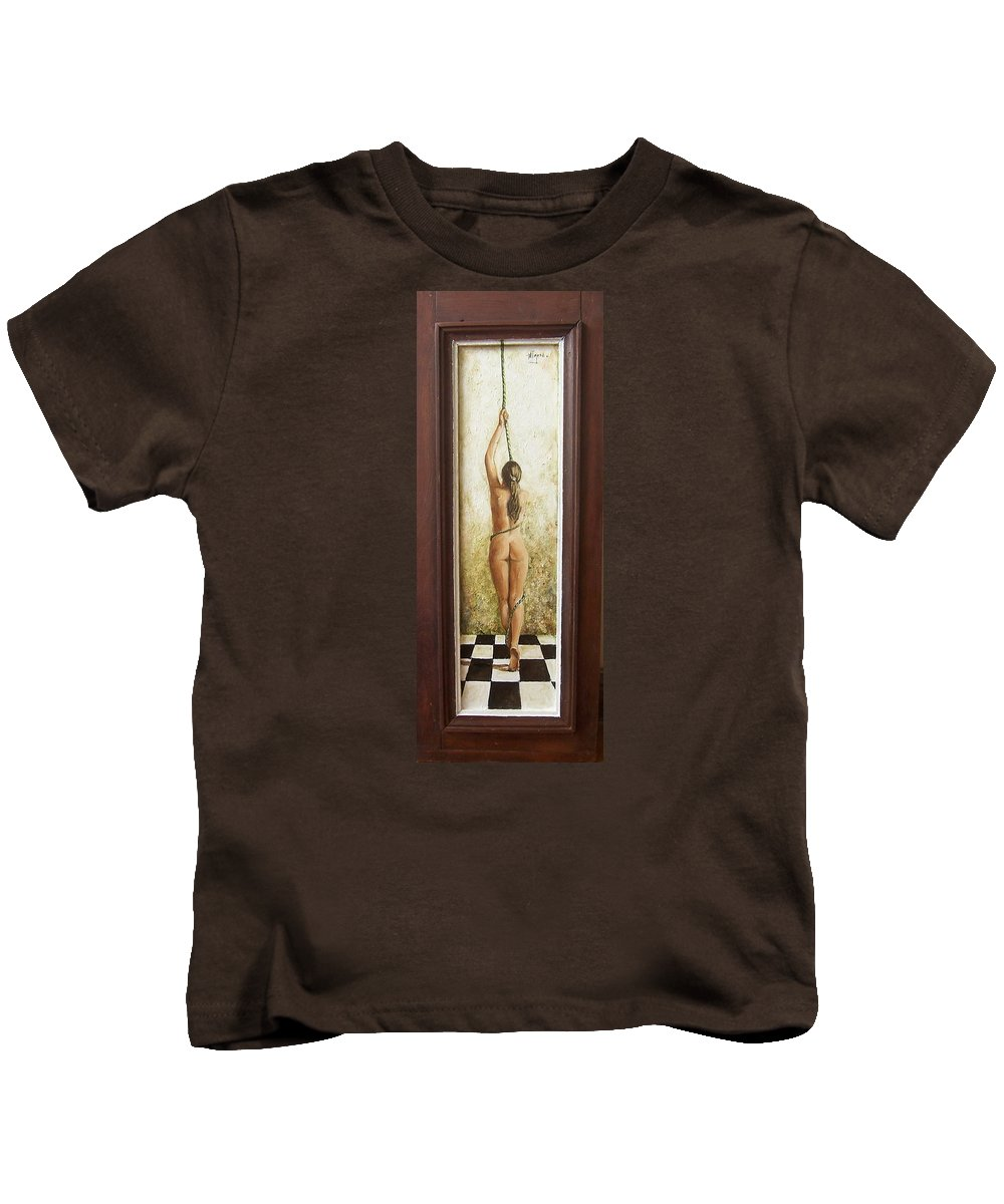 Figurative Kids T-Shirt featuring the painting Out Of Chess by Natalia Tejera