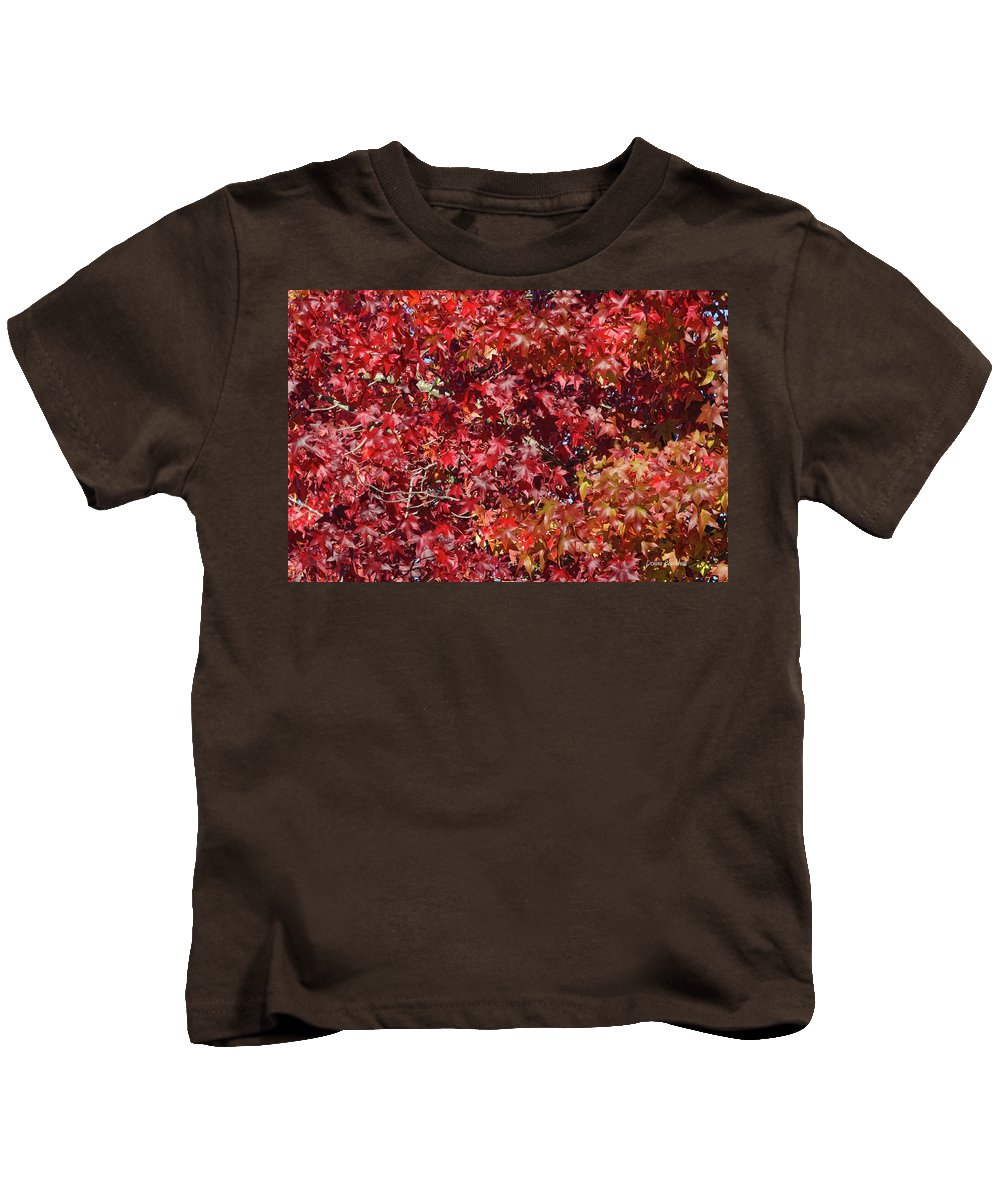 Red Leaves Kids T-Shirt featuring the photograph Overpopulation by Donna Blackhall