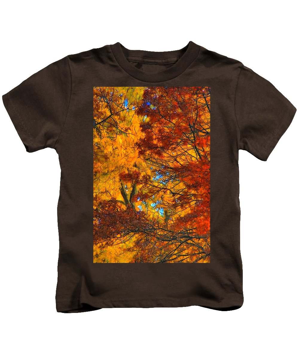 Leaves Kids T-Shirt featuring the photograph Painterly by Lyle Hatch