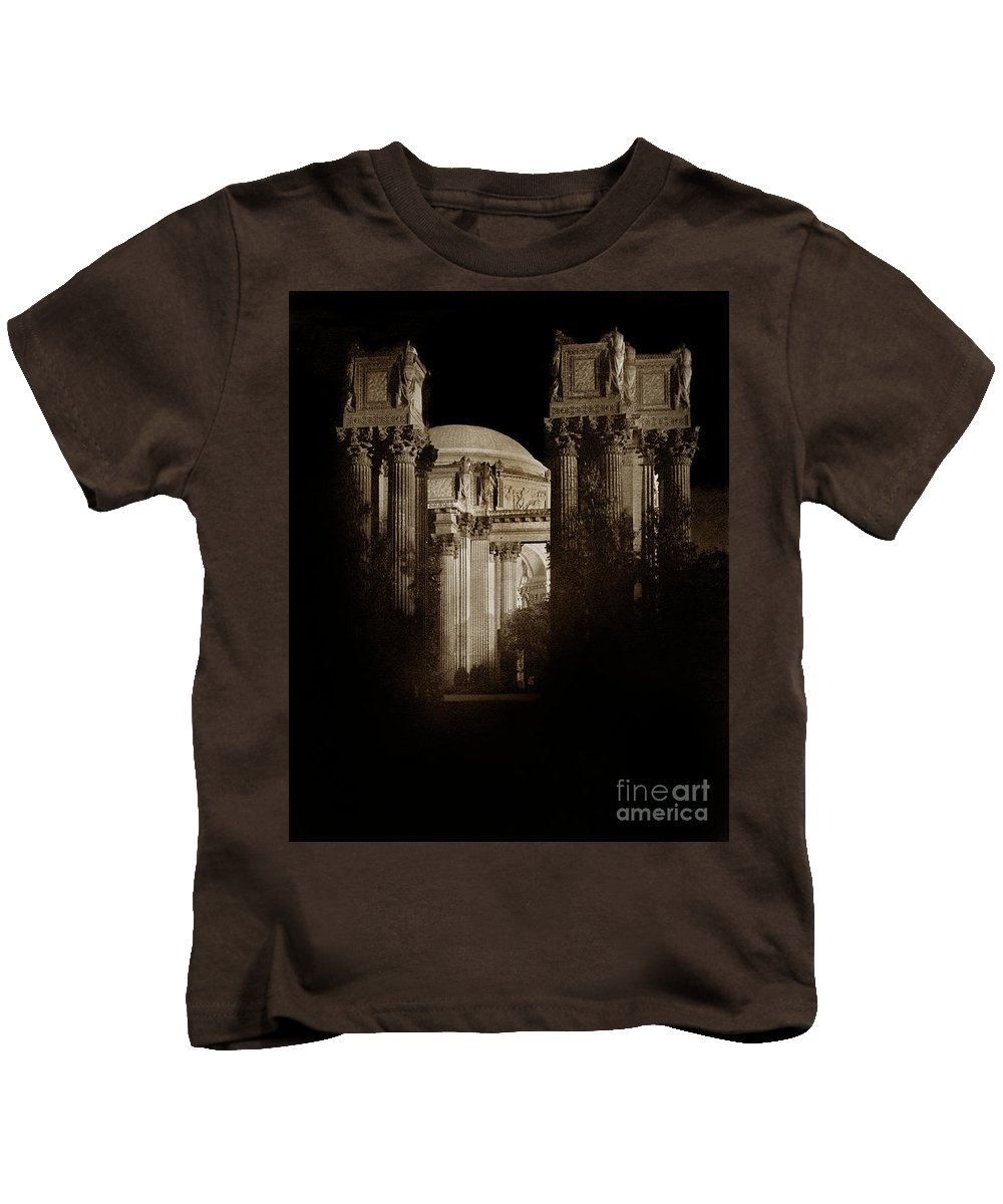 Palace Of Fine Arts 1915 Kids T-Shirt featuring the photograph Palace Of Fine Arts Panama-pacific Exposition, San Francisco 1915 by California Views Archives Mr Pat Hathaway Archives