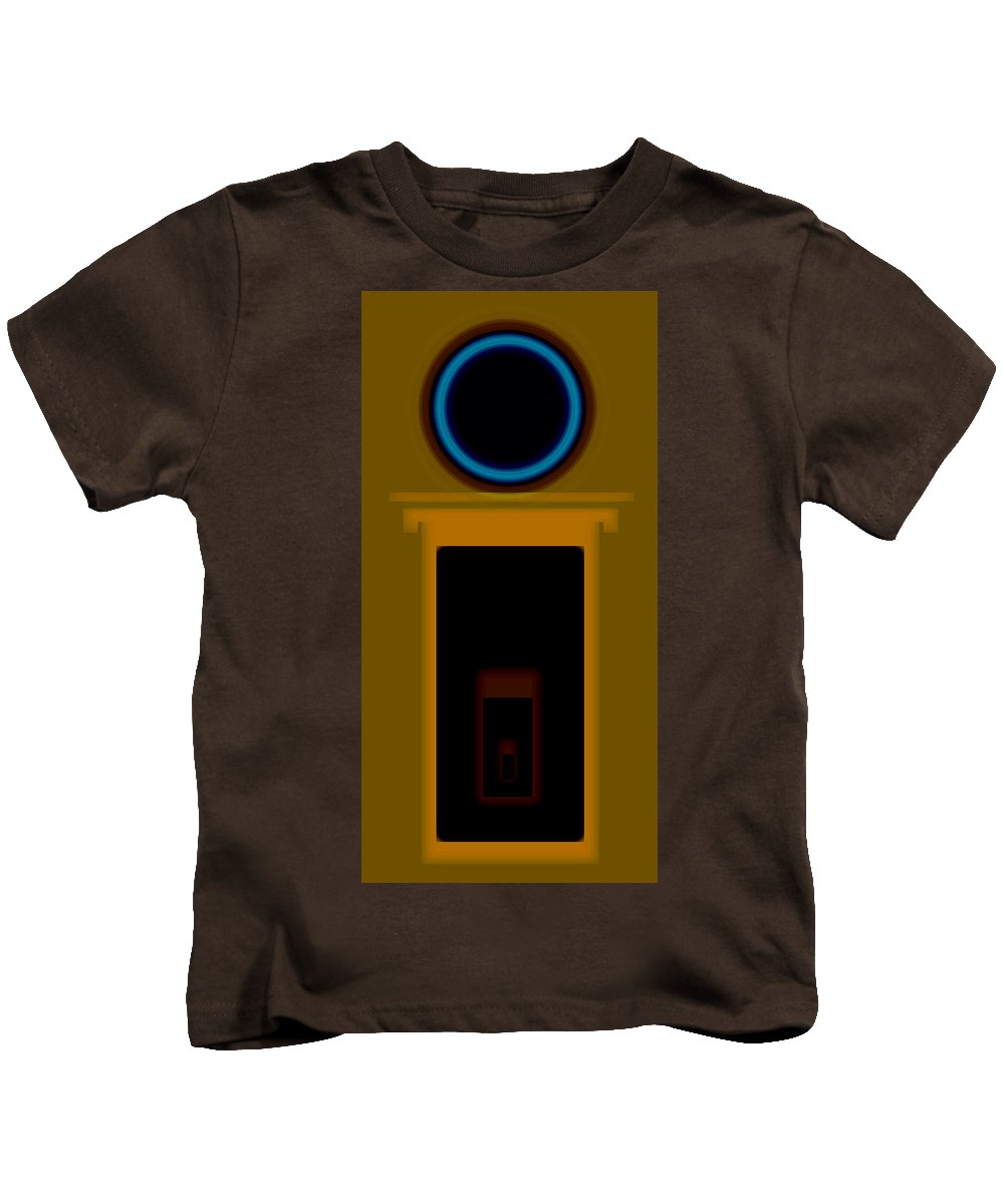 Palladian Kids T-Shirt featuring the painting Palladian Portal by Charles Stuart