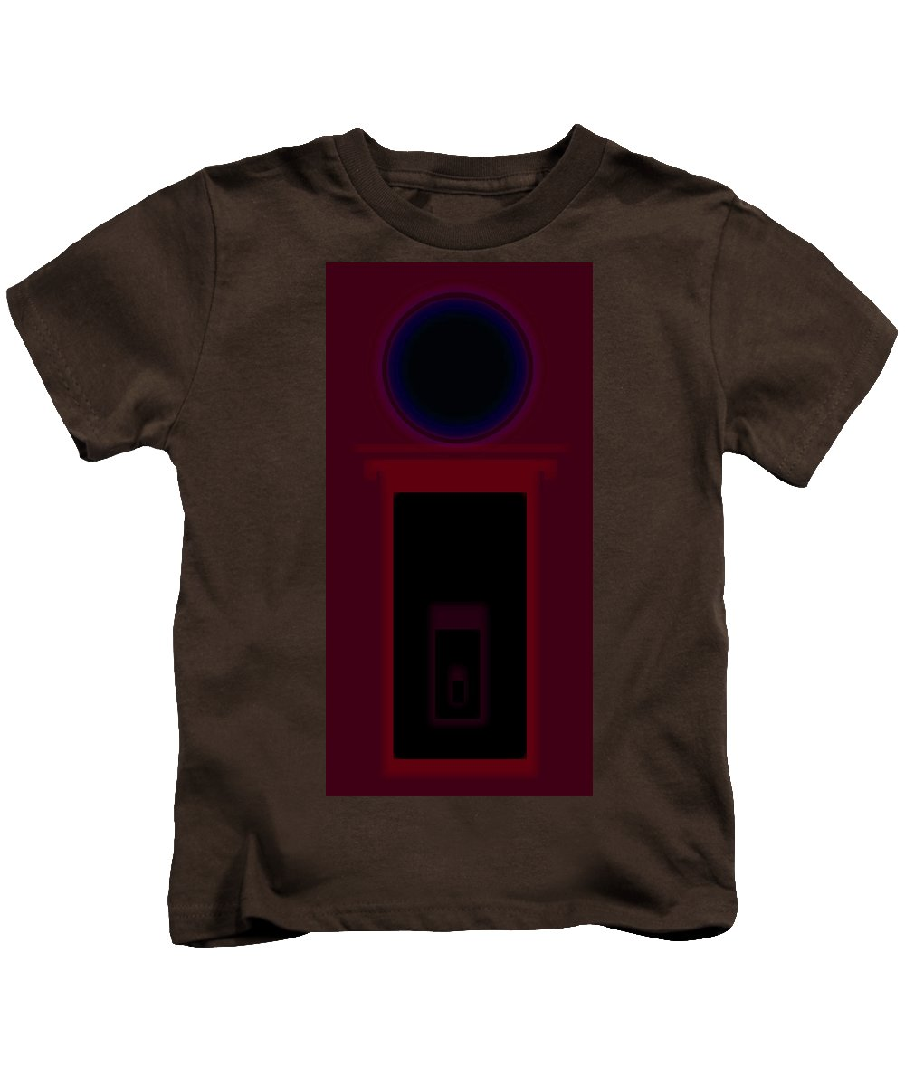 Palladian Kids T-Shirt featuring the painting Palladian Red by Charles Stuart