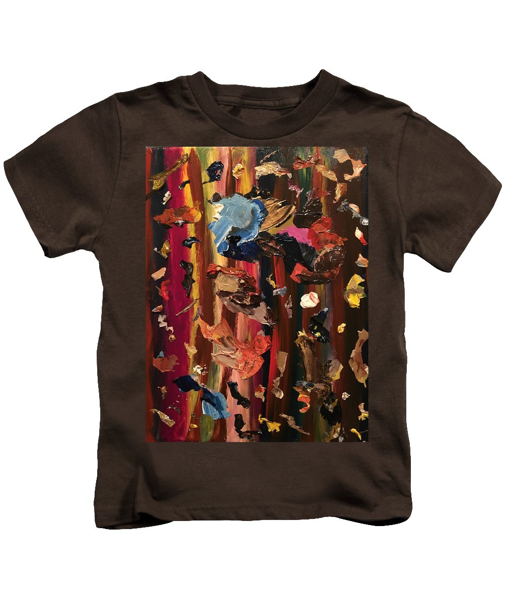 Stripes Kids T-Shirt featuring the painting Pallette Cleansing by Lisa Gay Wilson