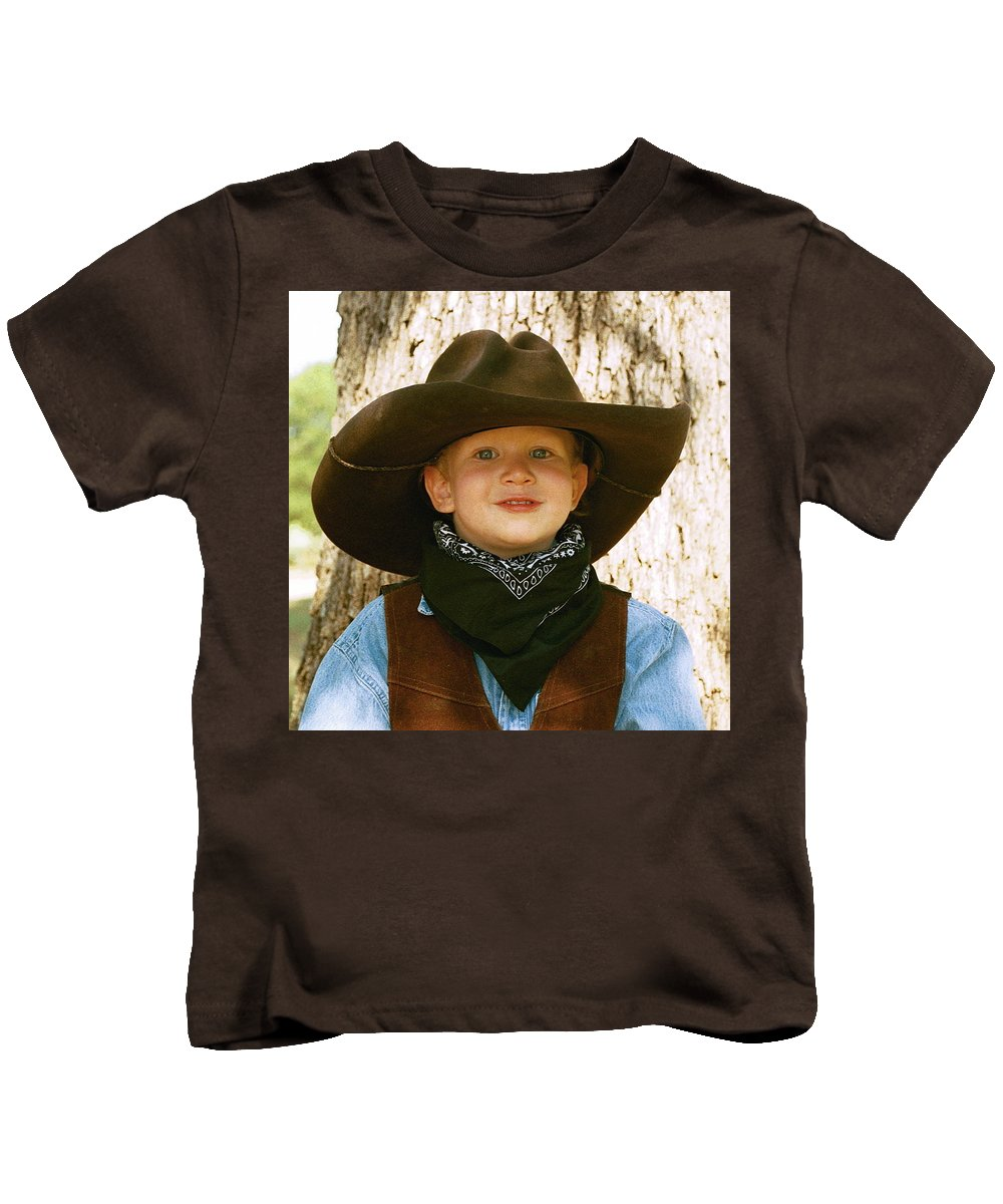 Hat Kids T-Shirt featuring the photograph Papa's Big Hat 1 by Cindy New