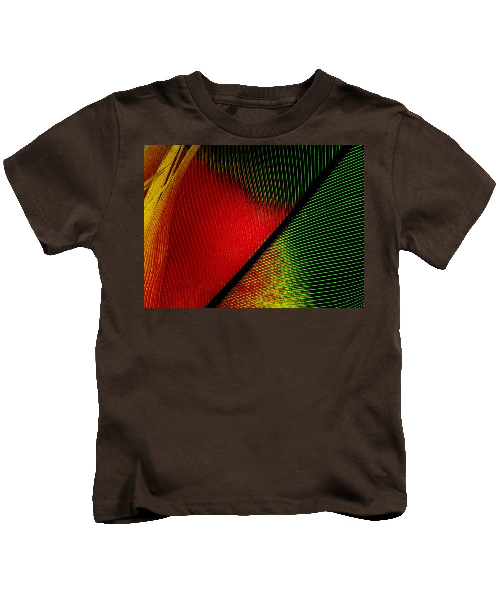 Macro Kids T-Shirt featuring the photograph Parrot Feather Macro by Robert Storost