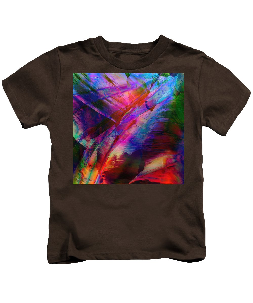 Abstract Kids T-Shirt featuring the digital art Passion by Barbara Berney