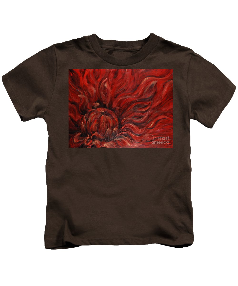 Flower Kids T-Shirt featuring the painting Passion Iv by Nadine Rippelmeyer