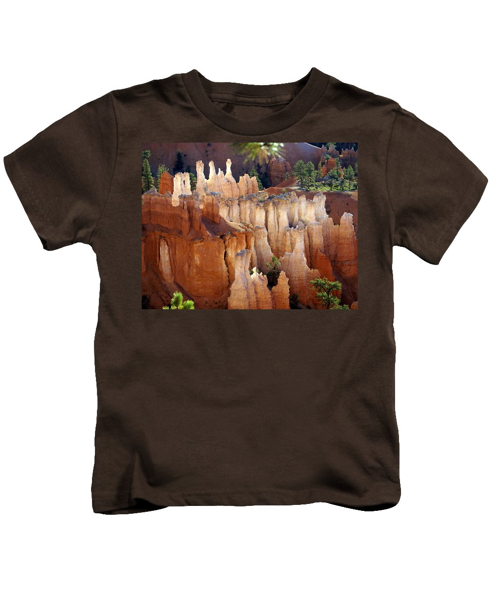 Bryce Canyon National Park Kids T-Shirt featuring the photograph Pastel Bryce by Marty Koch