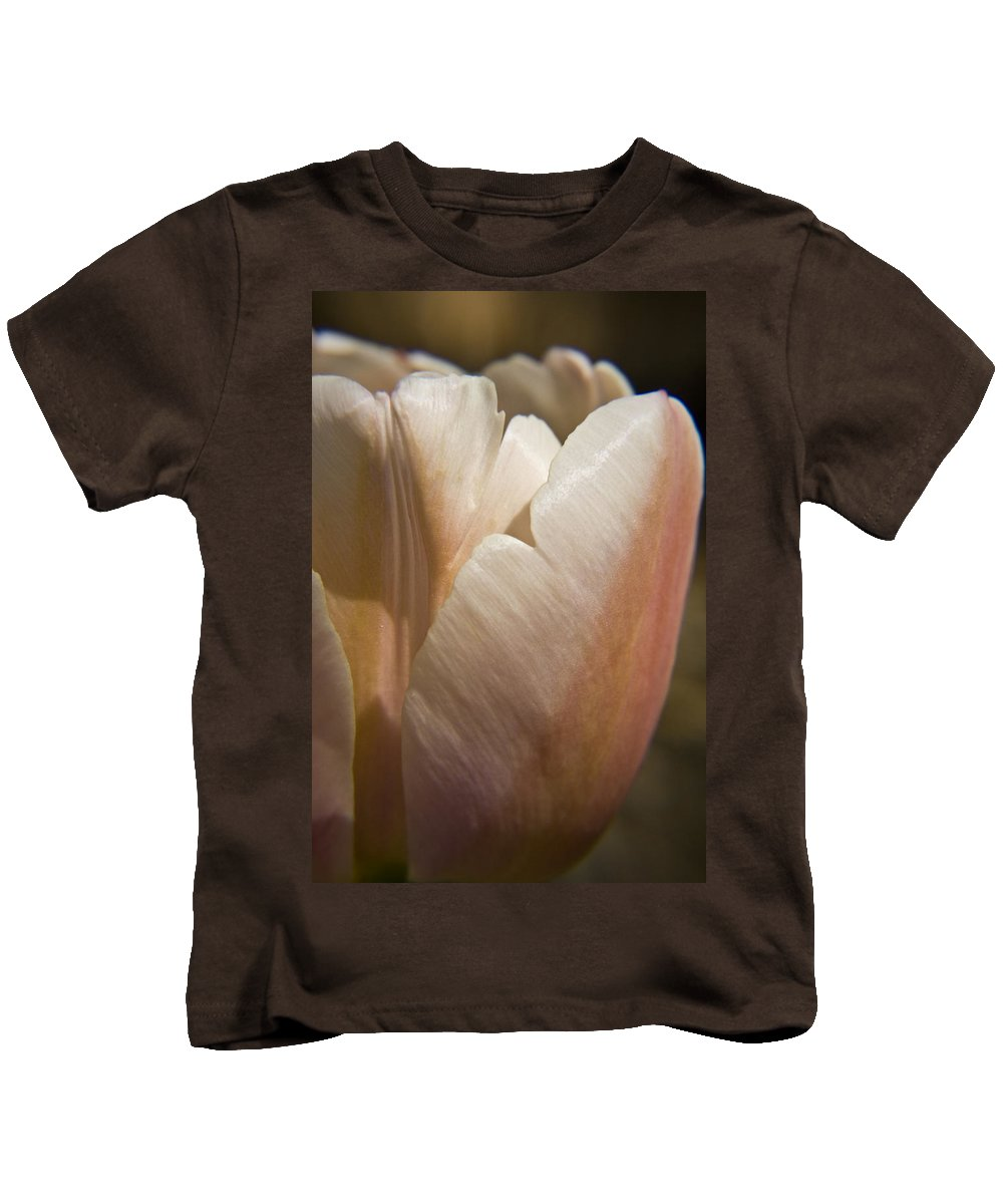 Peach Kids T-Shirt featuring the photograph Peach Tulip by Teresa Mucha