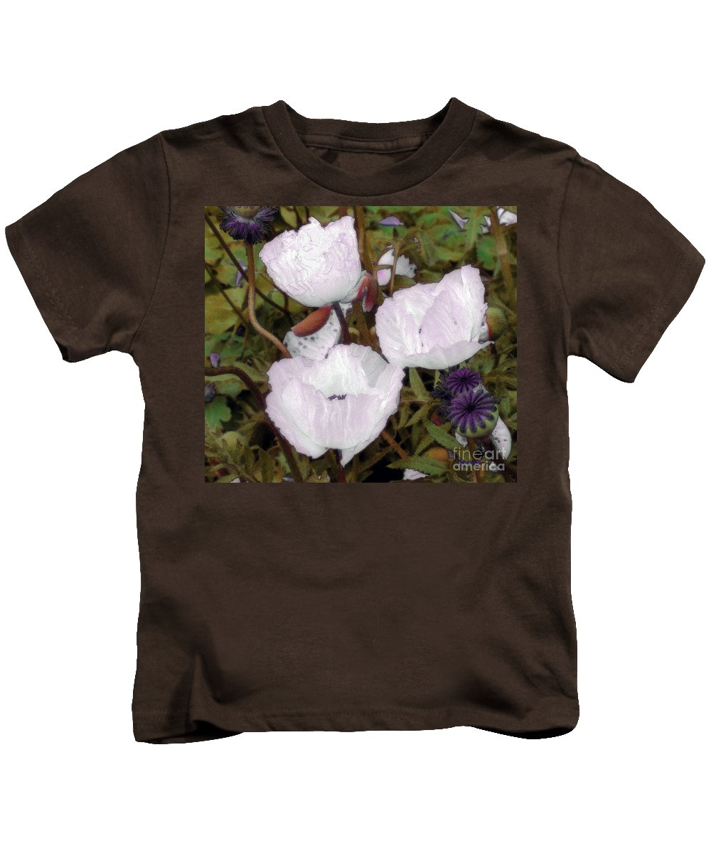 Blooms Kids T-Shirt featuring the digital art Pearlblossoms by RC deWinter