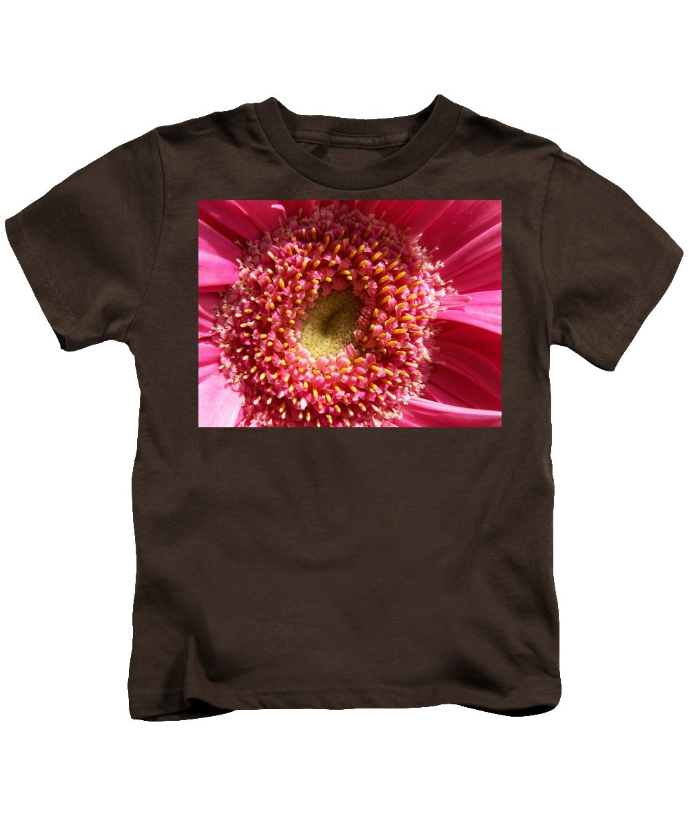 Pink Kids T-Shirt featuring the photograph Pink Gerbera Daisy by Amy Fose