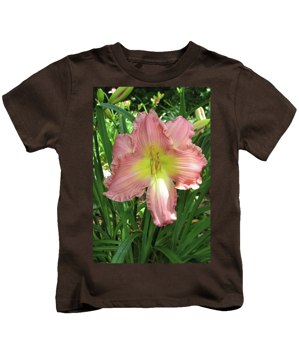 Arrangement Kids T-Shirt featuring the photograph Pink Lily by Alan Look
