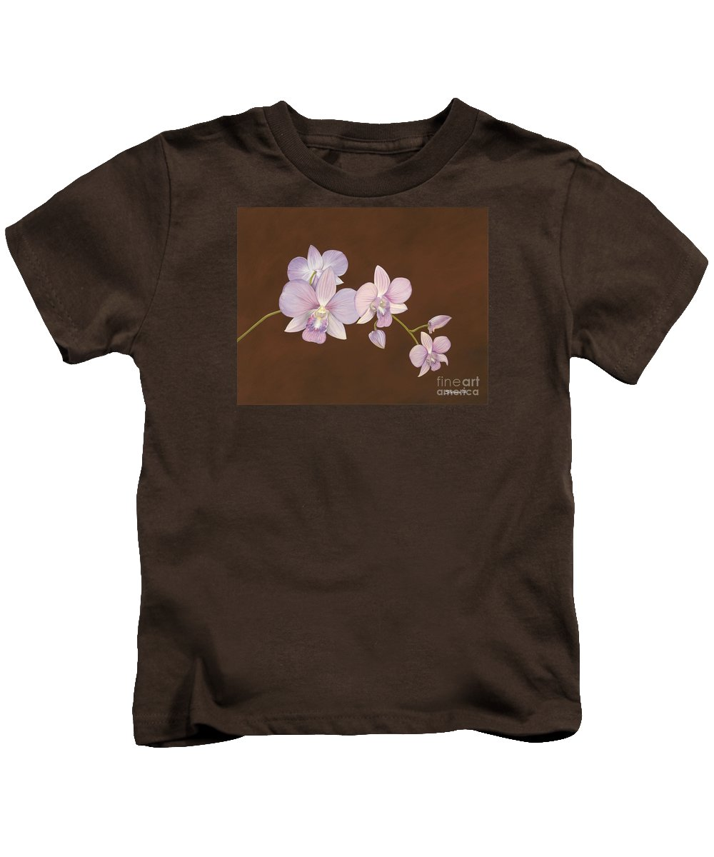 Orchid Kids T-Shirt featuring the painting Pink Orchids by Shawn Stallings
