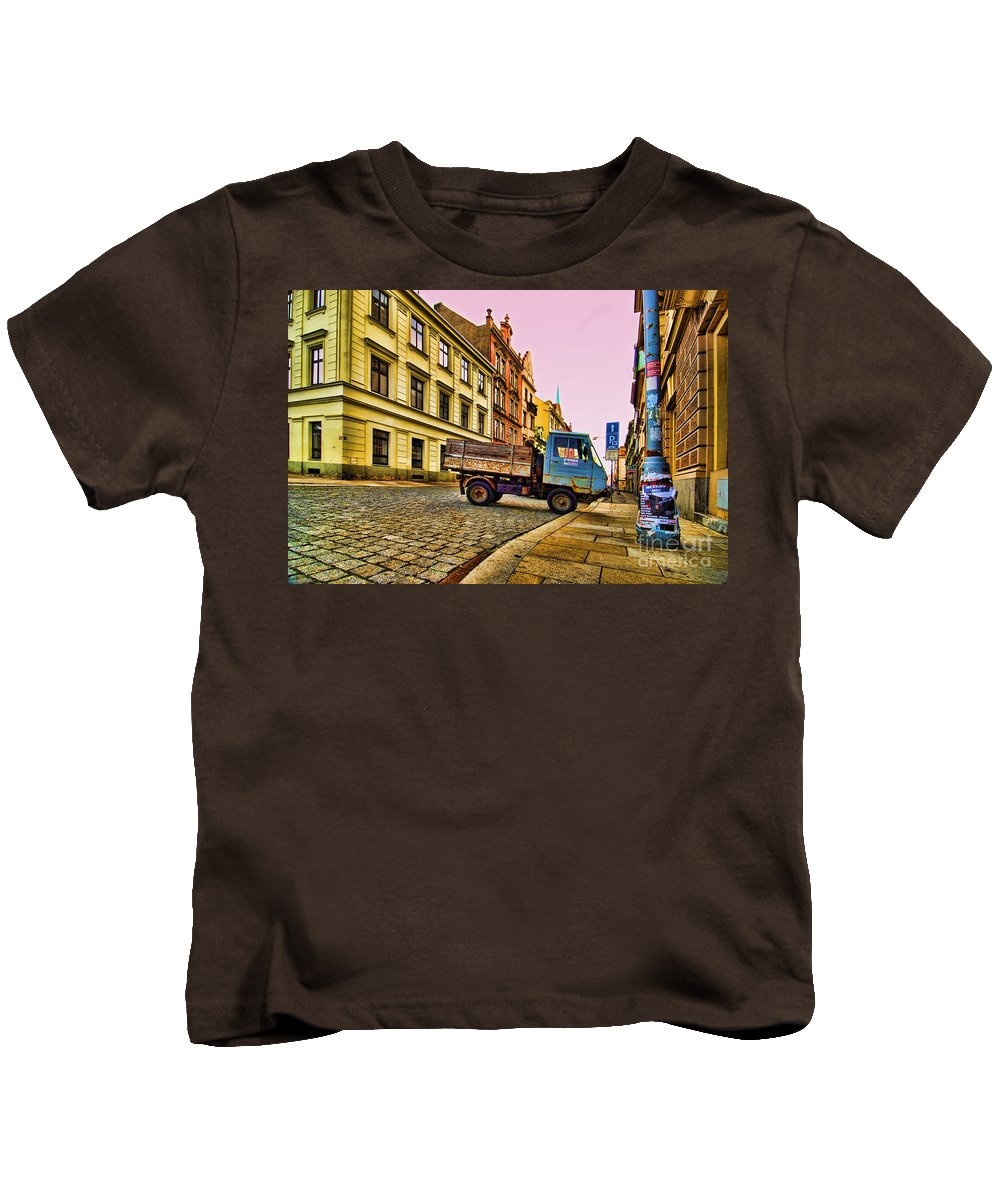 Czech Republic Kids T-Shirt featuring the photograph Plzen In Hdr Czech Republic by Sabine Jacobs