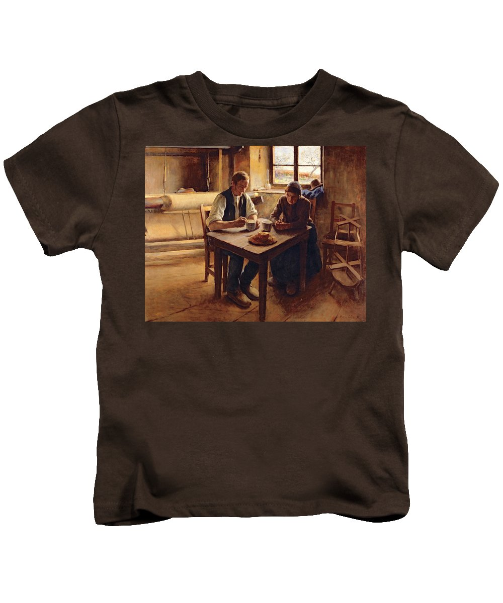 Poor Kids T-Shirt featuring the painting Poor People by Andre Collin