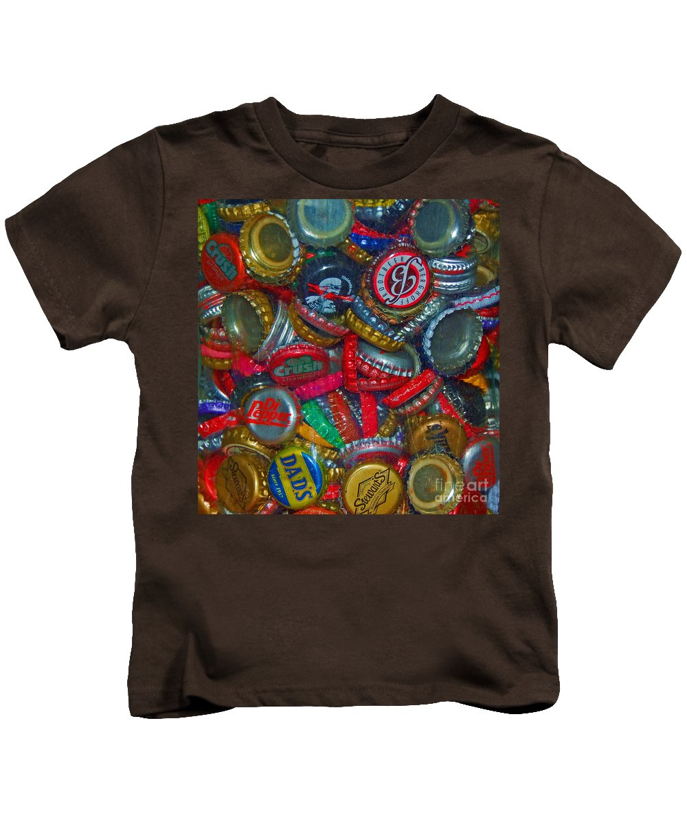 Bottles Kids T-Shirt featuring the photograph Pop Art by Debbi Granruth