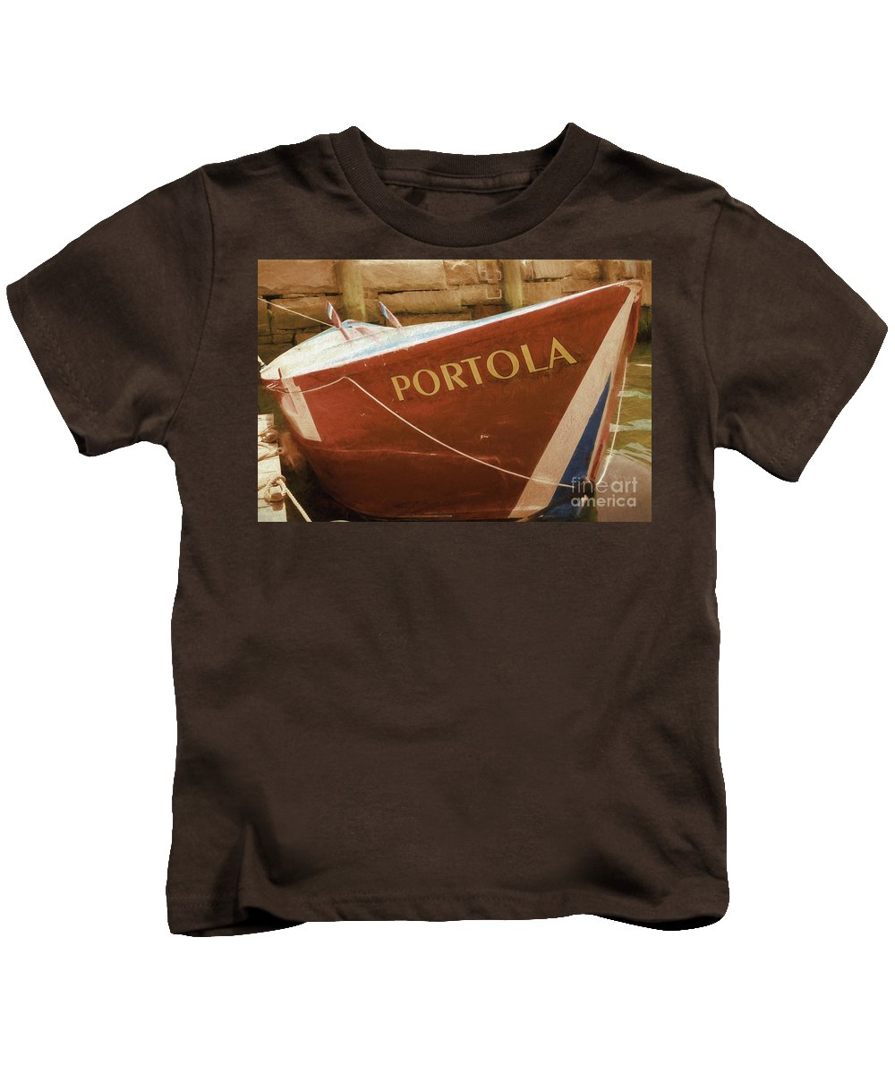 Boat Kids T-Shirt featuring the photograph Portola by Joe Geraci
