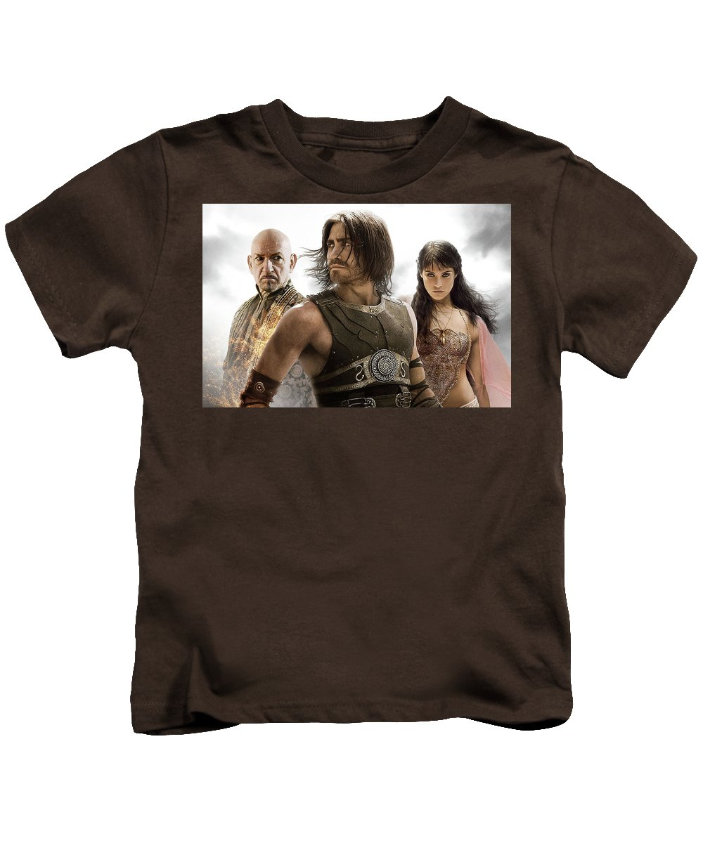 Prince Of Persia The Sands Of Time Kids T-Shirt featuring the digital art Prince Of Persia The Sands Of Time by Dorothy Binder
