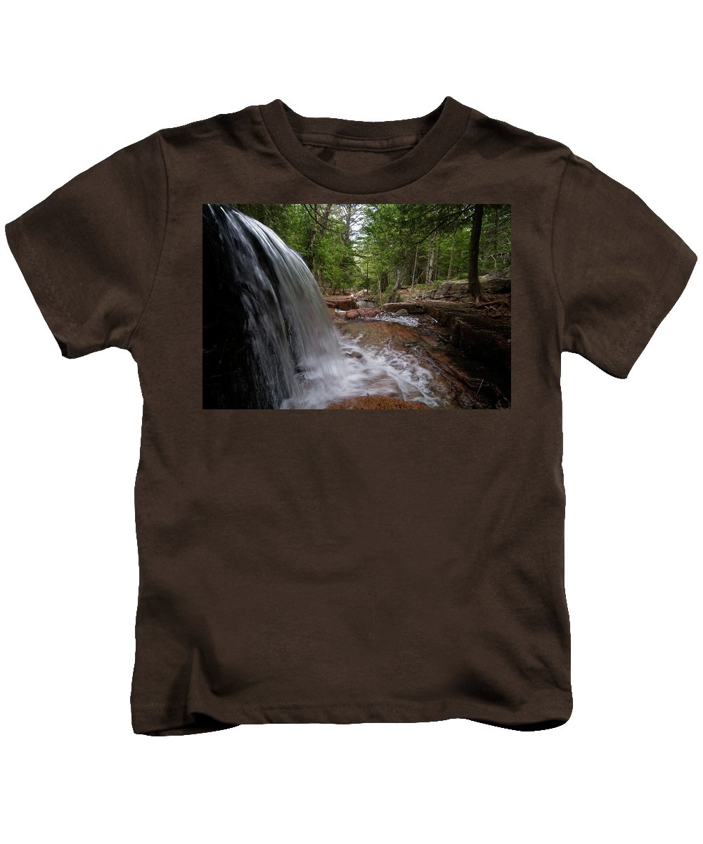 water Falls Kids T-Shirt featuring the photograph Profile Of The Falls by Paul Mangold
