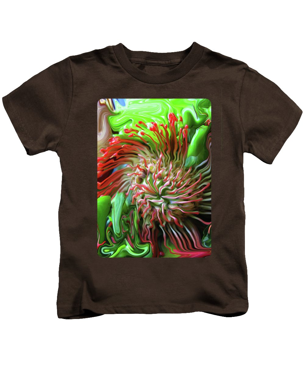Abstract Kids T-Shirt featuring the photograph Protea Bouquet by Kathy Moll