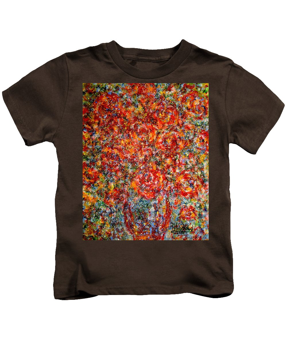 Flowers Kids T-Shirt featuring the painting Pure Happiness by Natalie Holland
