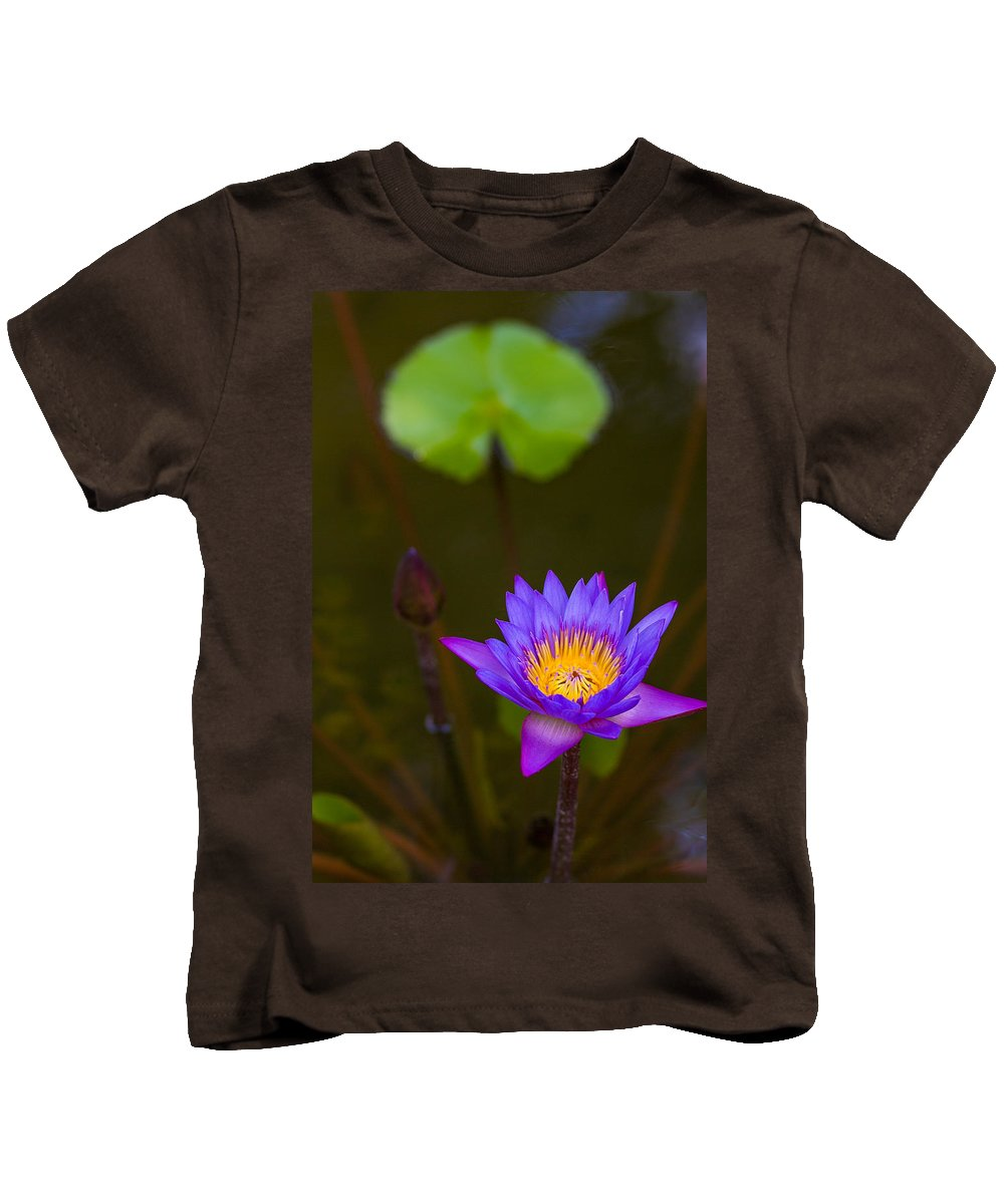 Lily Kids T-Shirt featuring the photograph Purple Power by Dave Files