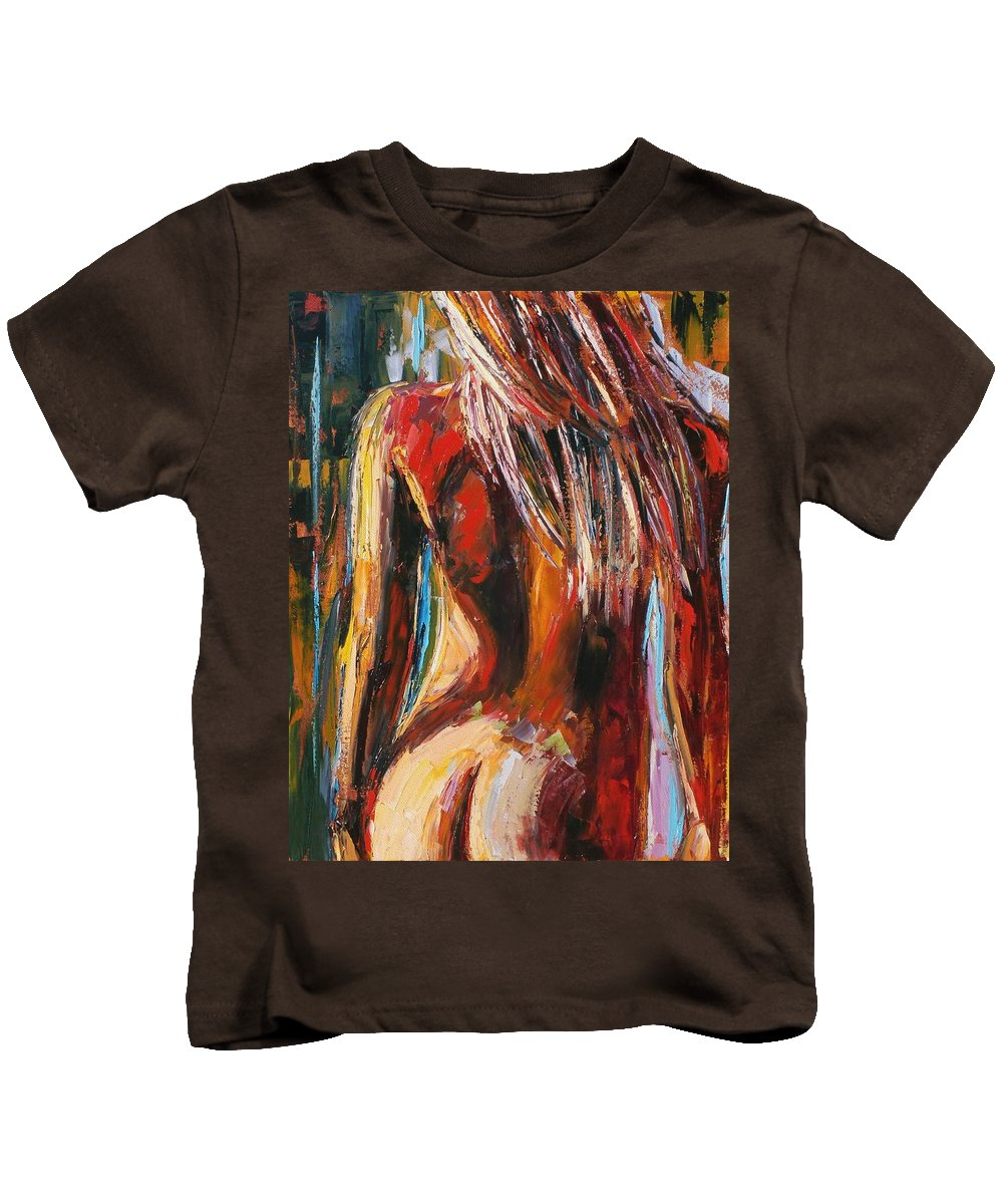 Nude Kids T-Shirt featuring the painting Quiet Breeze by Debra Hurd