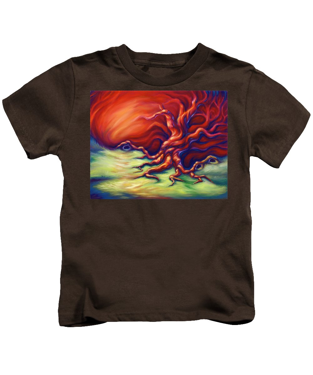 Oil Painting Kids T-Shirt featuring the painting Quiet Place by Jennifer McDuffie