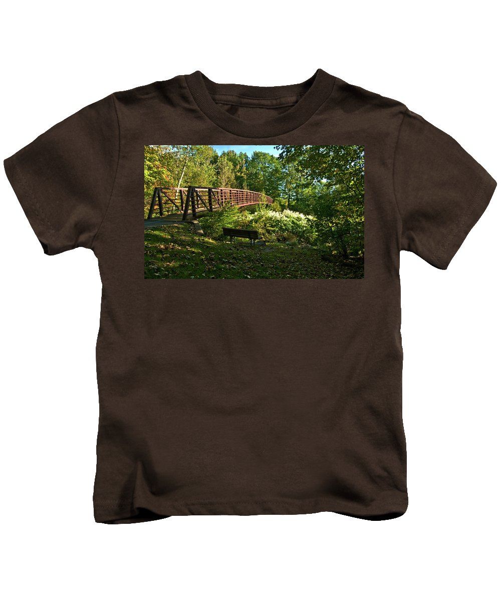 images Of Vermont Kids T-Shirt featuring the photograph Quiet Spot by Paul Mangold