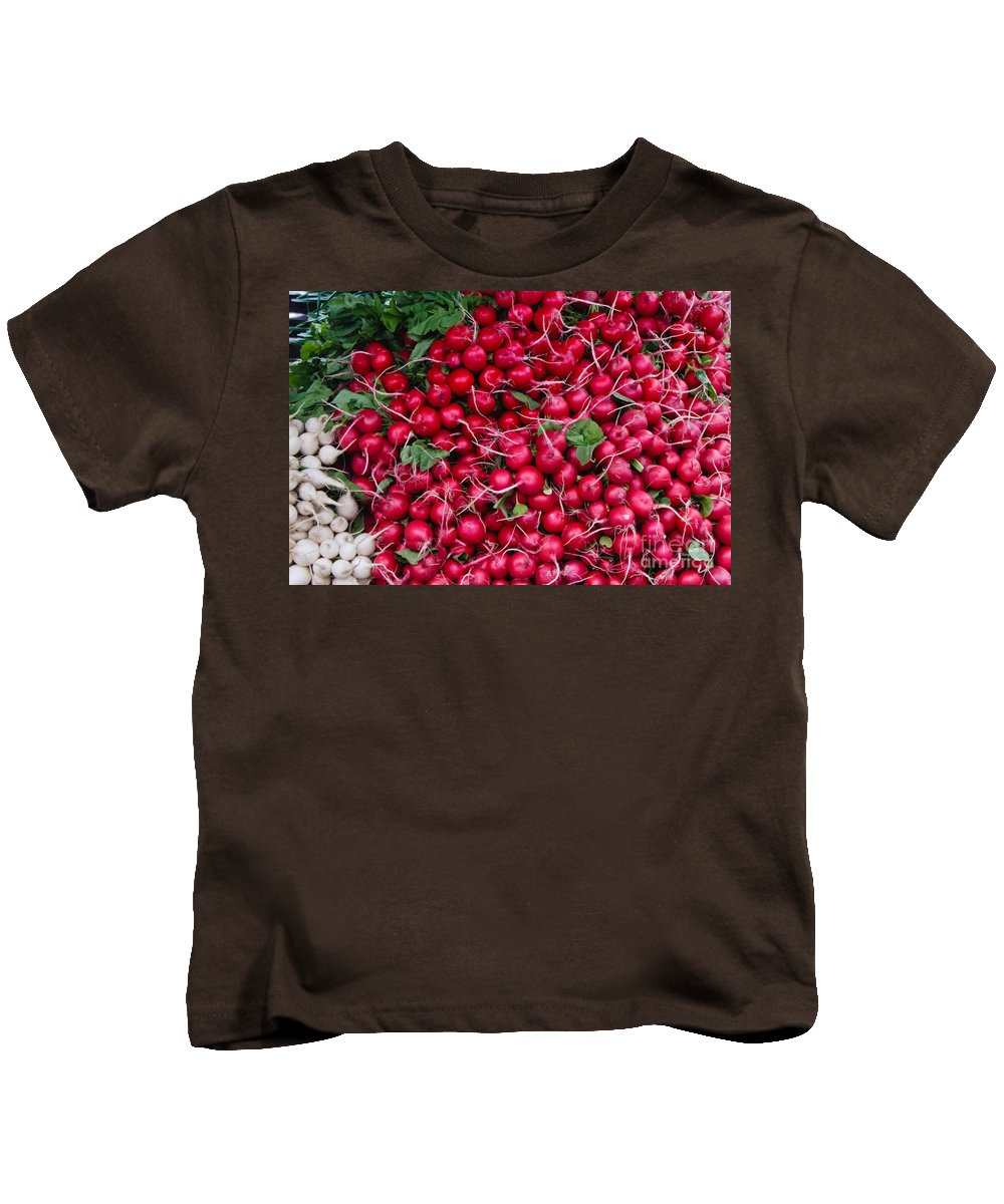 Radish Kids T-Shirt featuring the photograph Radishes by Thomas Marchessault