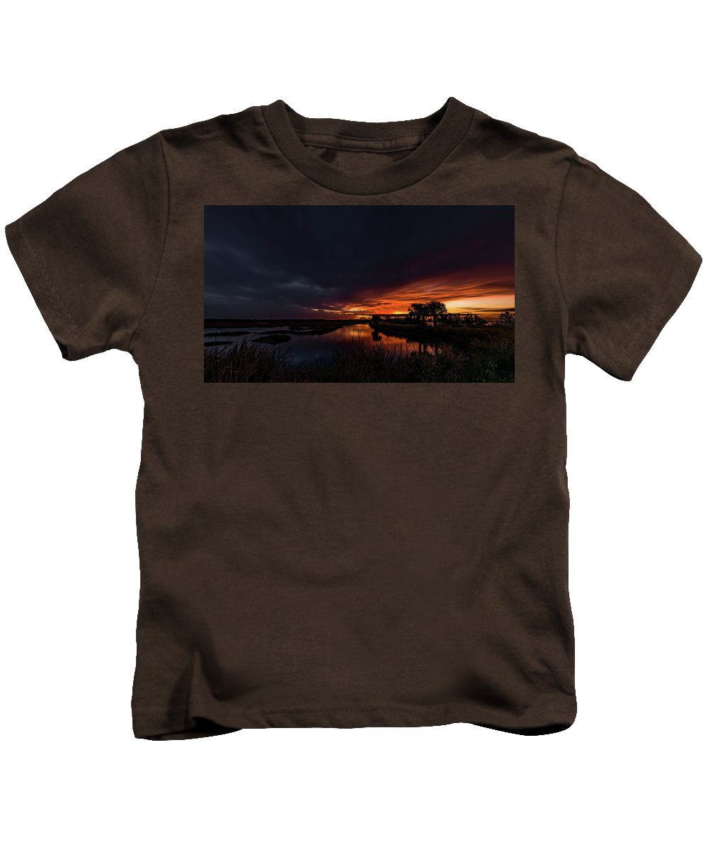 Indian River Kids T-Shirt featuring the photograph Rain Or Shine - by Norman Peay