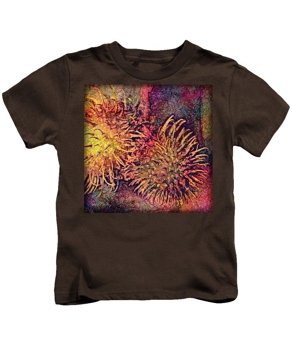 Rambutan Kids T-Shirt featuring the digital art Rambutan by Barbara Berney