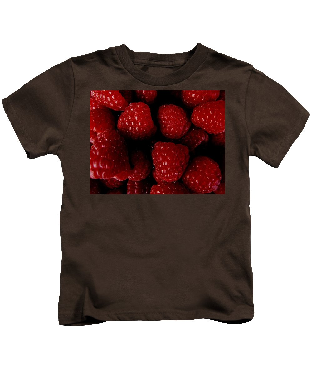 Raspberries Kids T-Shirt featuring the photograph Raspberries by Valerie Ornstein