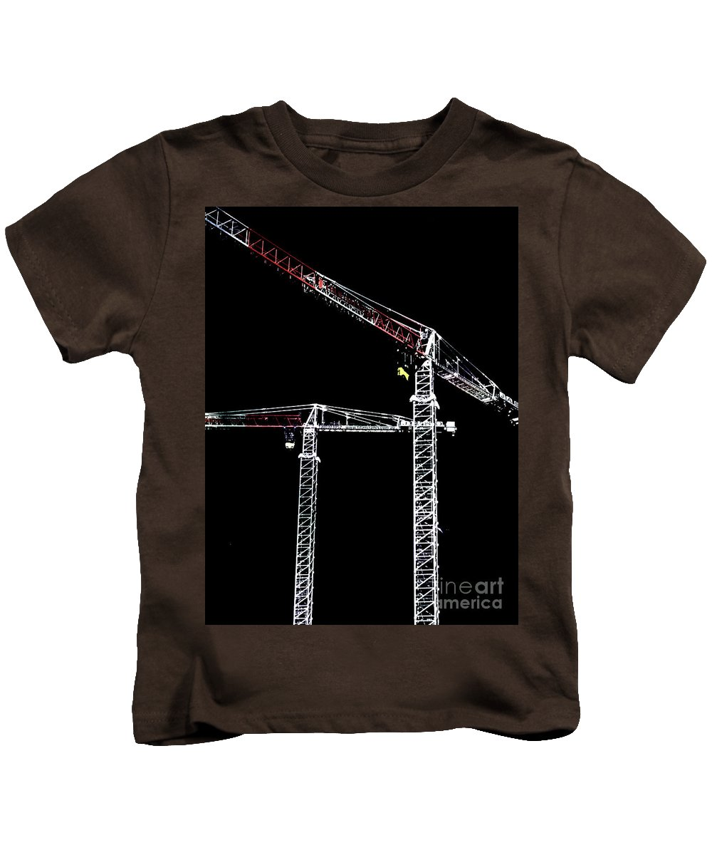 Crane Kids T-Shirt featuring the photograph Reach For The Sky by Stephen Mitchell