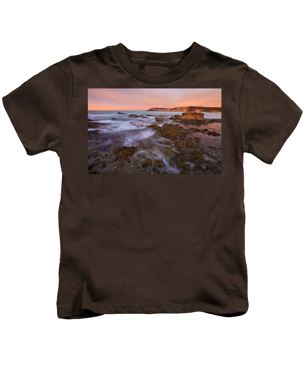 Sunrise Kids T-Shirt featuring the photograph Red Dawning by Mike Dawson