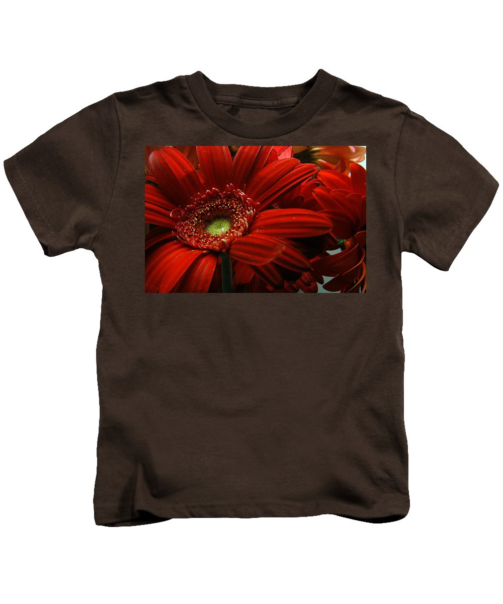 Clay Kids T-Shirt featuring the photograph Red Floral by Clayton Bruster