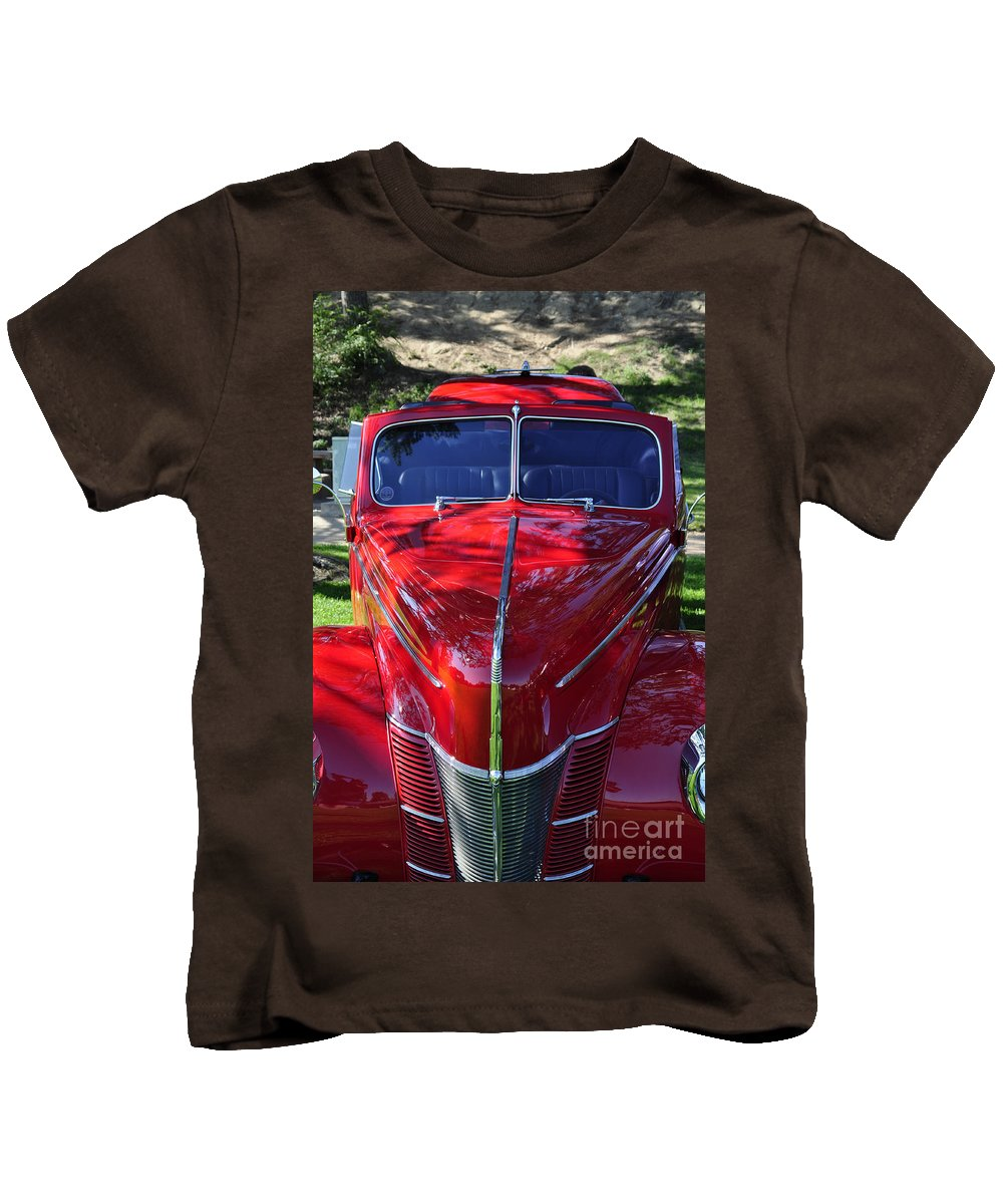 Clay Kids T-Shirt featuring the photograph Red Hot Rod by Clayton Bruster