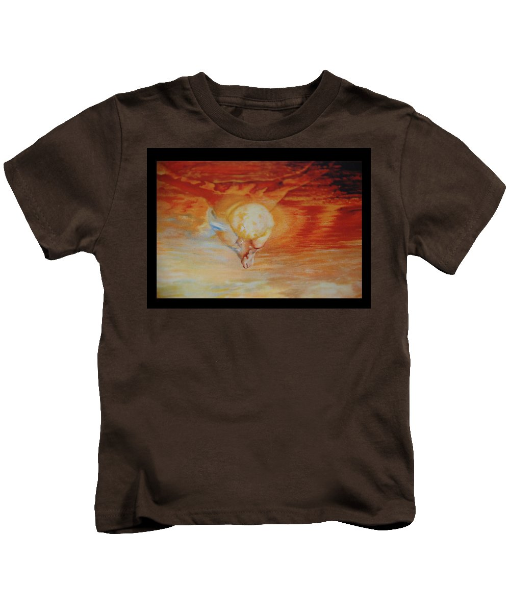 Angels Kids T-Shirt featuring the photograph Red Sky by Rob Hans