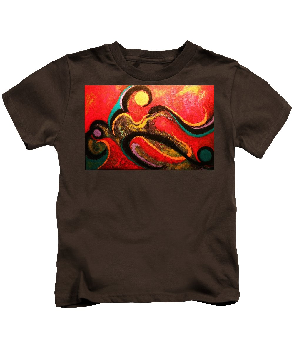 Red Kids T-Shirt featuring the painting Red Tide by Todd Hoover