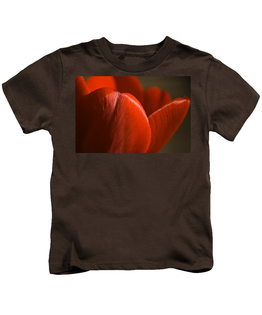 Tulip Kids T-Shirt featuring the photograph Red Tulip Up Close by Teresa Mucha