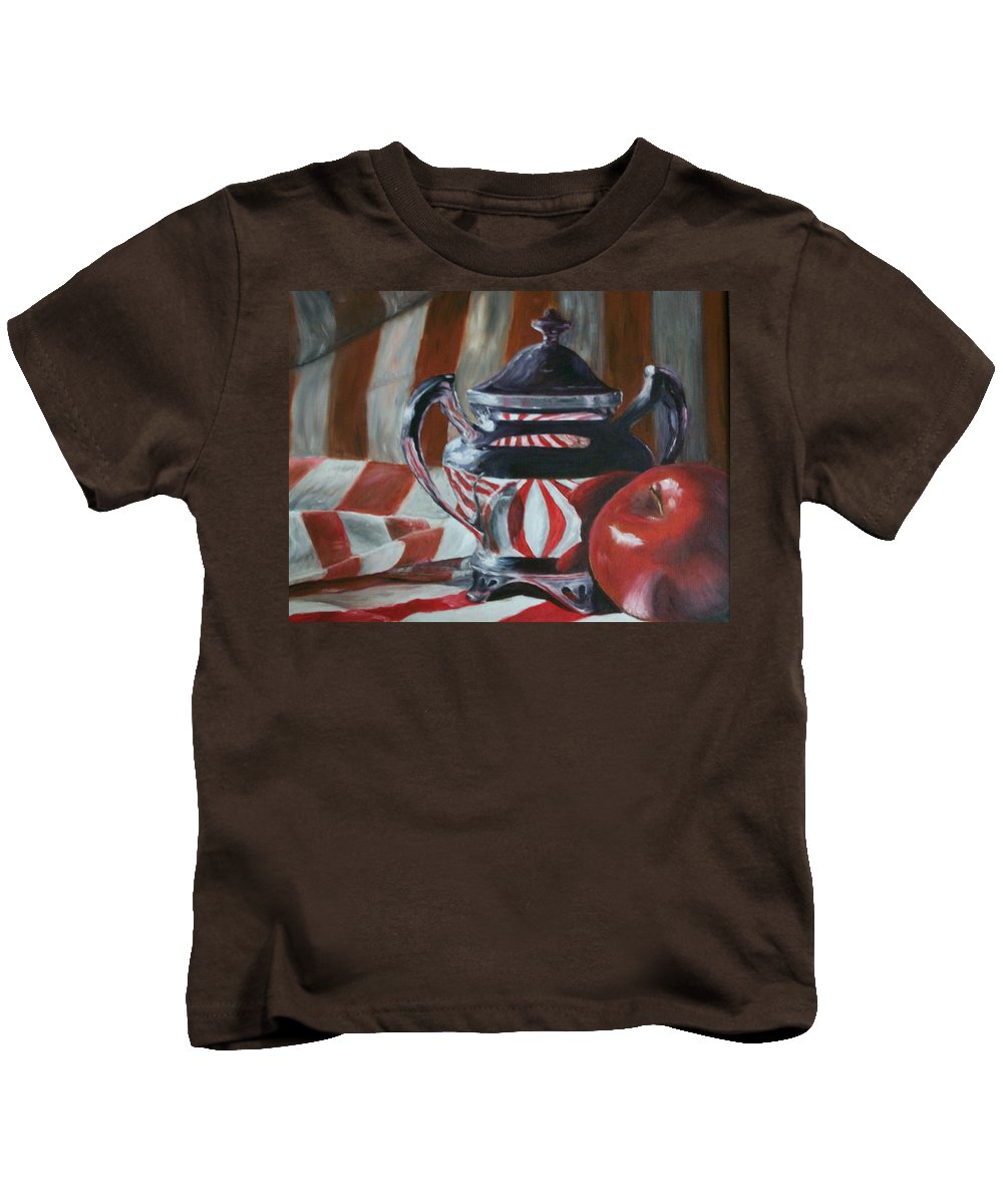 Still Life Kids T-Shirt featuring the painting Reflections by Stephen King