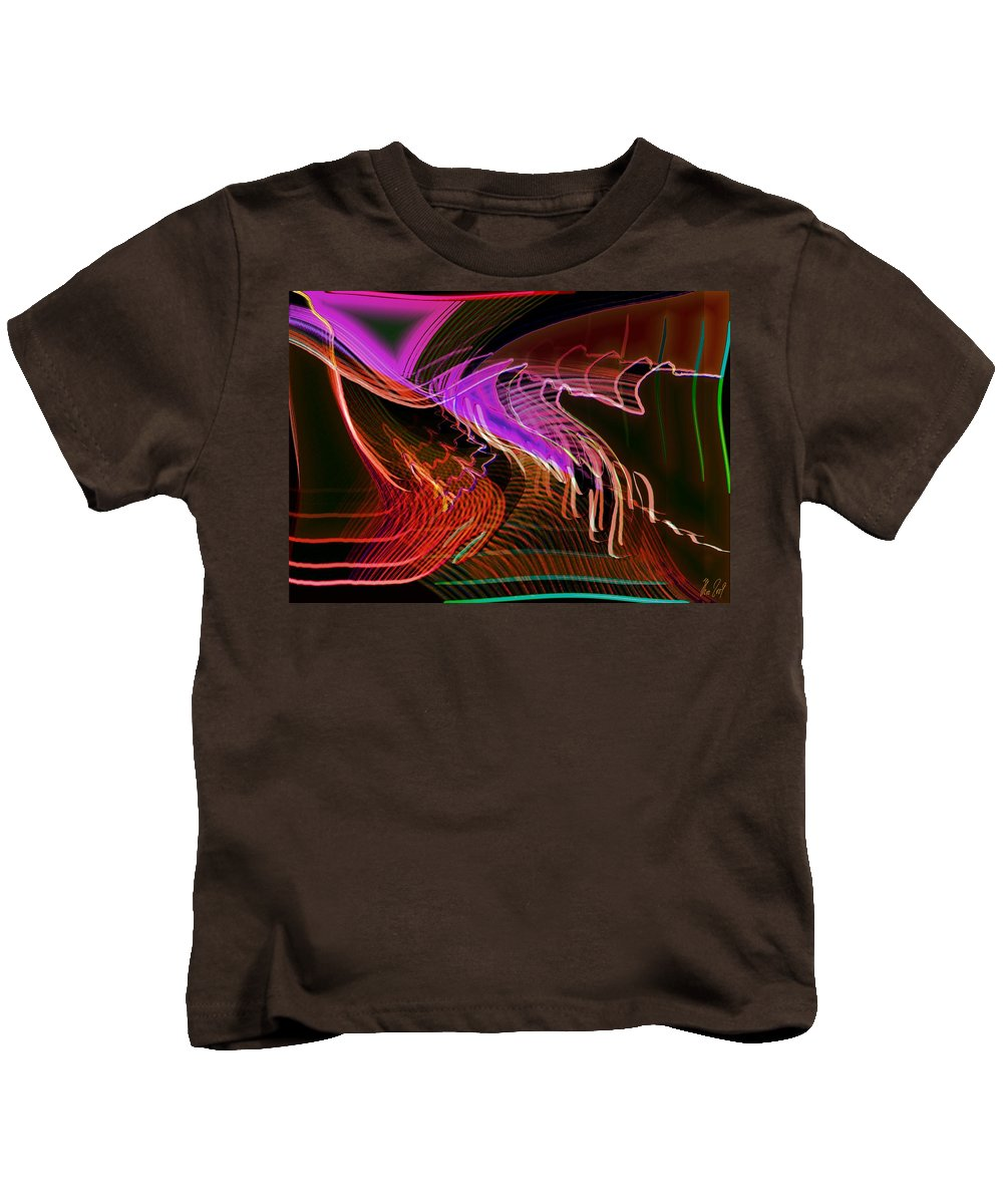 Drawing Kids T-Shirt featuring the digital art Reflexions Red by Helmut Rottler
