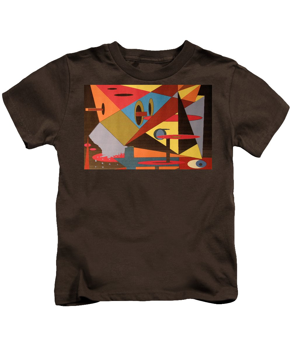 Abstract Kids T-Shirt featuring the digital art Regret by Ian MacDonald