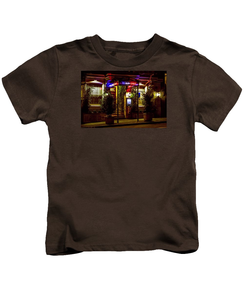 Bonnie Follett Kids T-Shirt featuring the photograph Restaurant Jeanne D'arc by Bonnie Follett