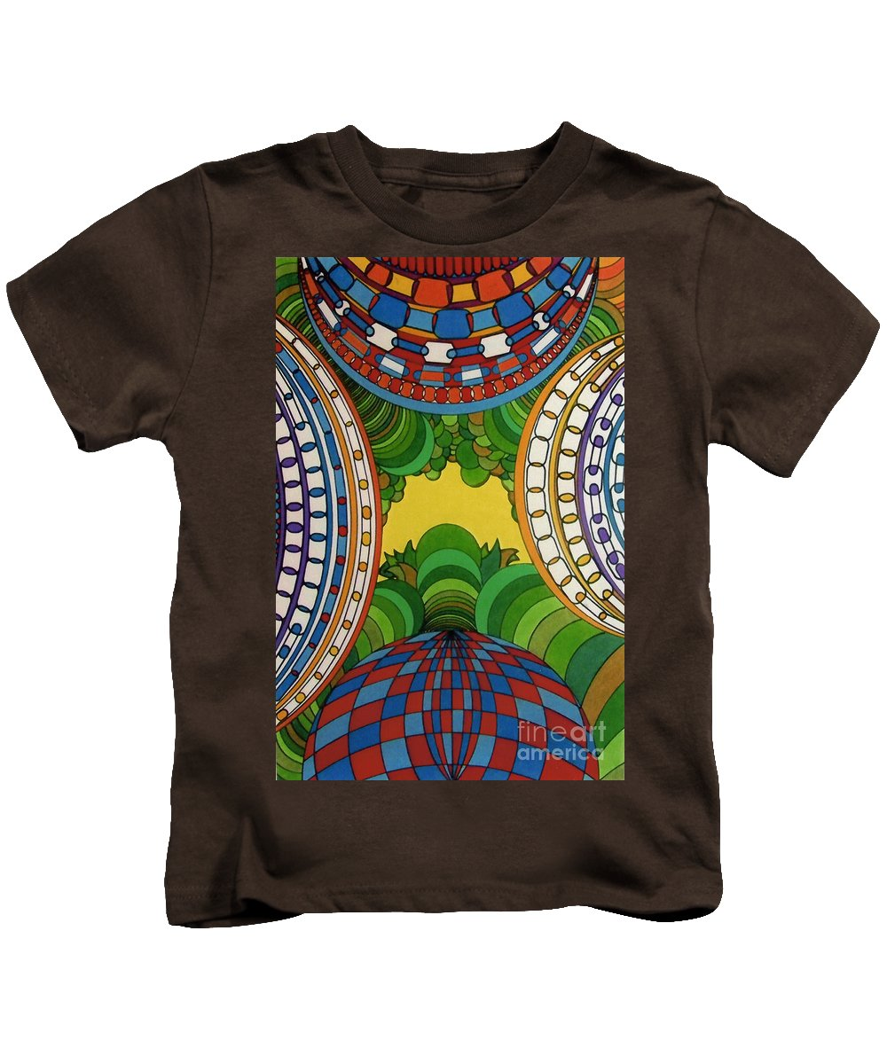 Birds Eye View Kids T-Shirt featuring the drawing Rfb0512 by Robert F Battles