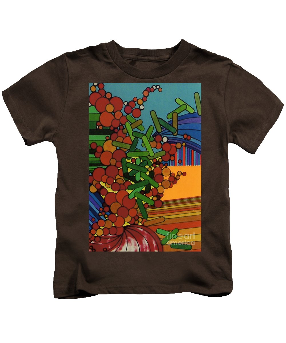 Over Growth Kids T-Shirt featuring the drawing Rfb0542 by Robert F Battles