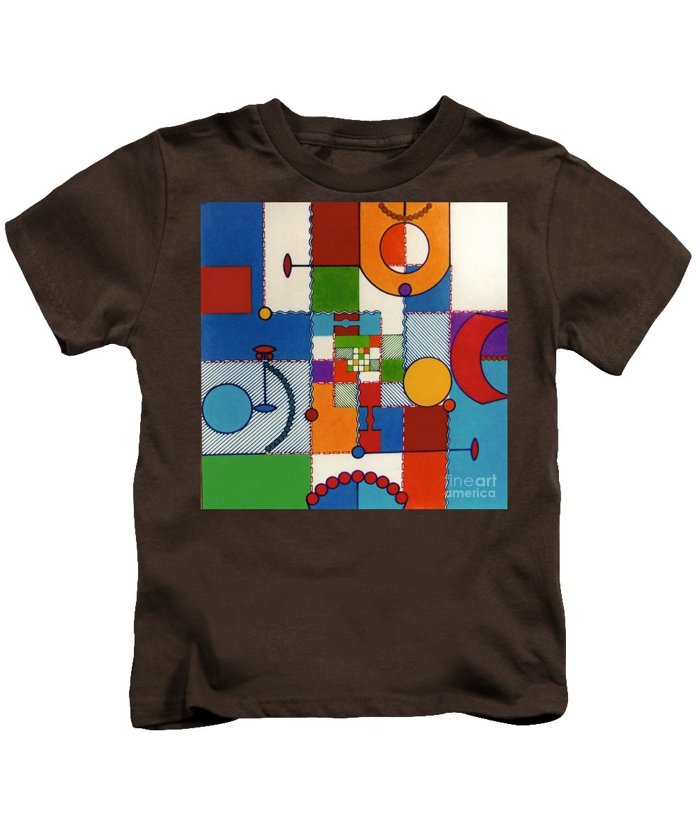 Pliad Kids T-Shirt featuring the drawing Rfb0575 by Robert F Battles
