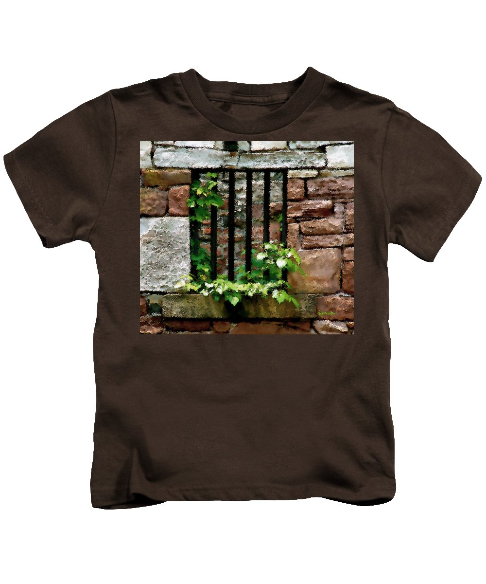 American History Kids T-Shirt featuring the digital art Rhus Radicans Triumphant by RC DeWinter